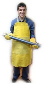 Delantal de cuero descarne para Soldador con refuerzo goma plomada