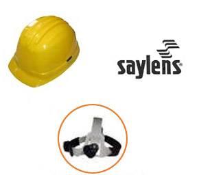Arnés para casco Saylens a cremallera Sujeción regulada por perilla. Construidos en polipropileno clase B tipo 1