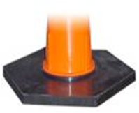 Base rellenable para cono de 75 cm